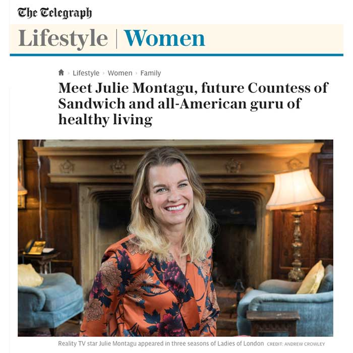 Julie Montagu interview in The Telegraph