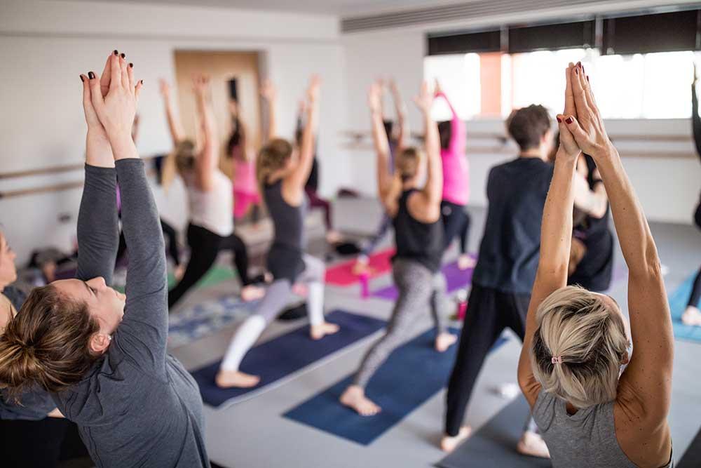 Yoga teacher training in studio