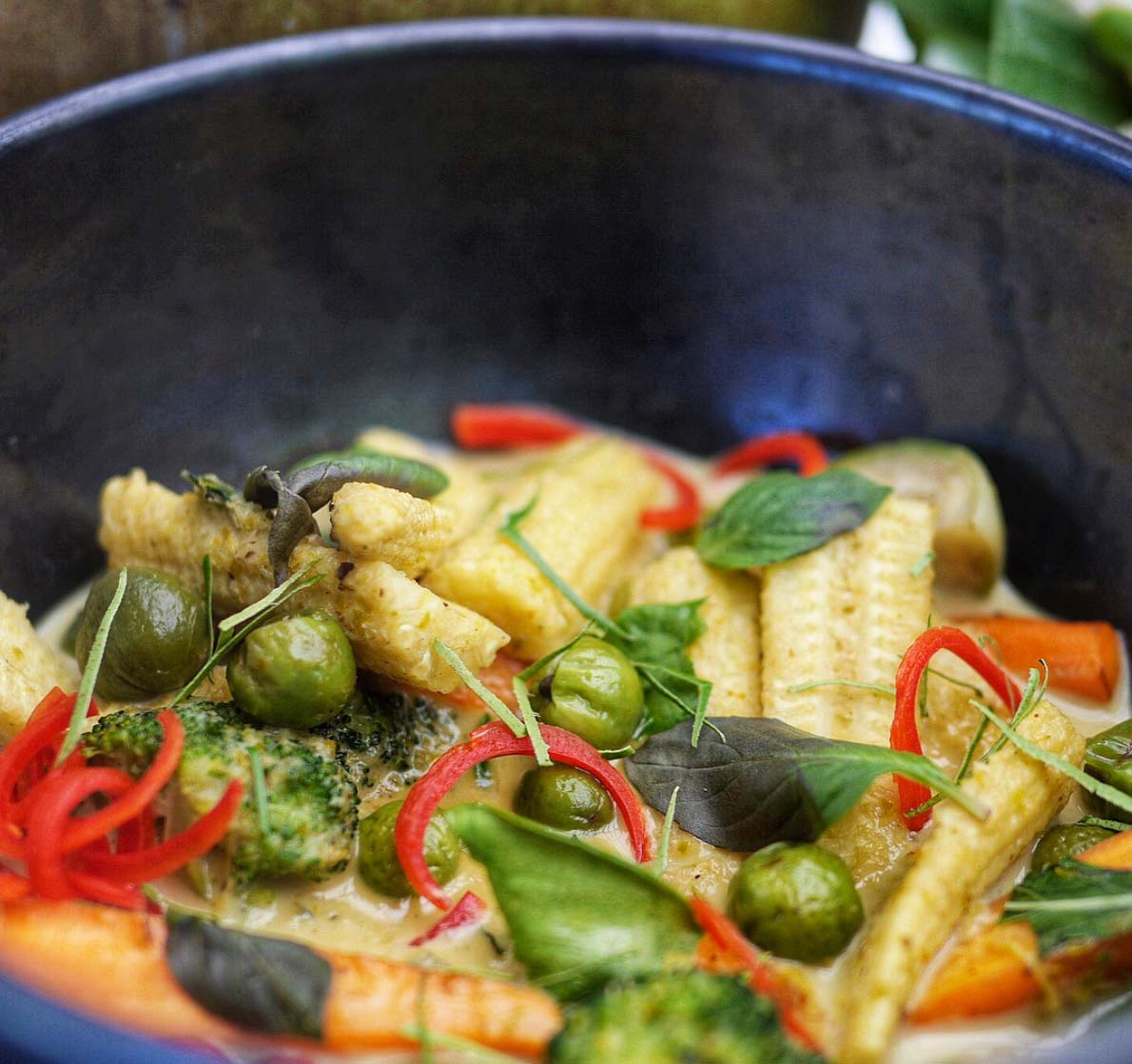 Thai Green Curry With Vegetables - Recipe By Julie Montagu
