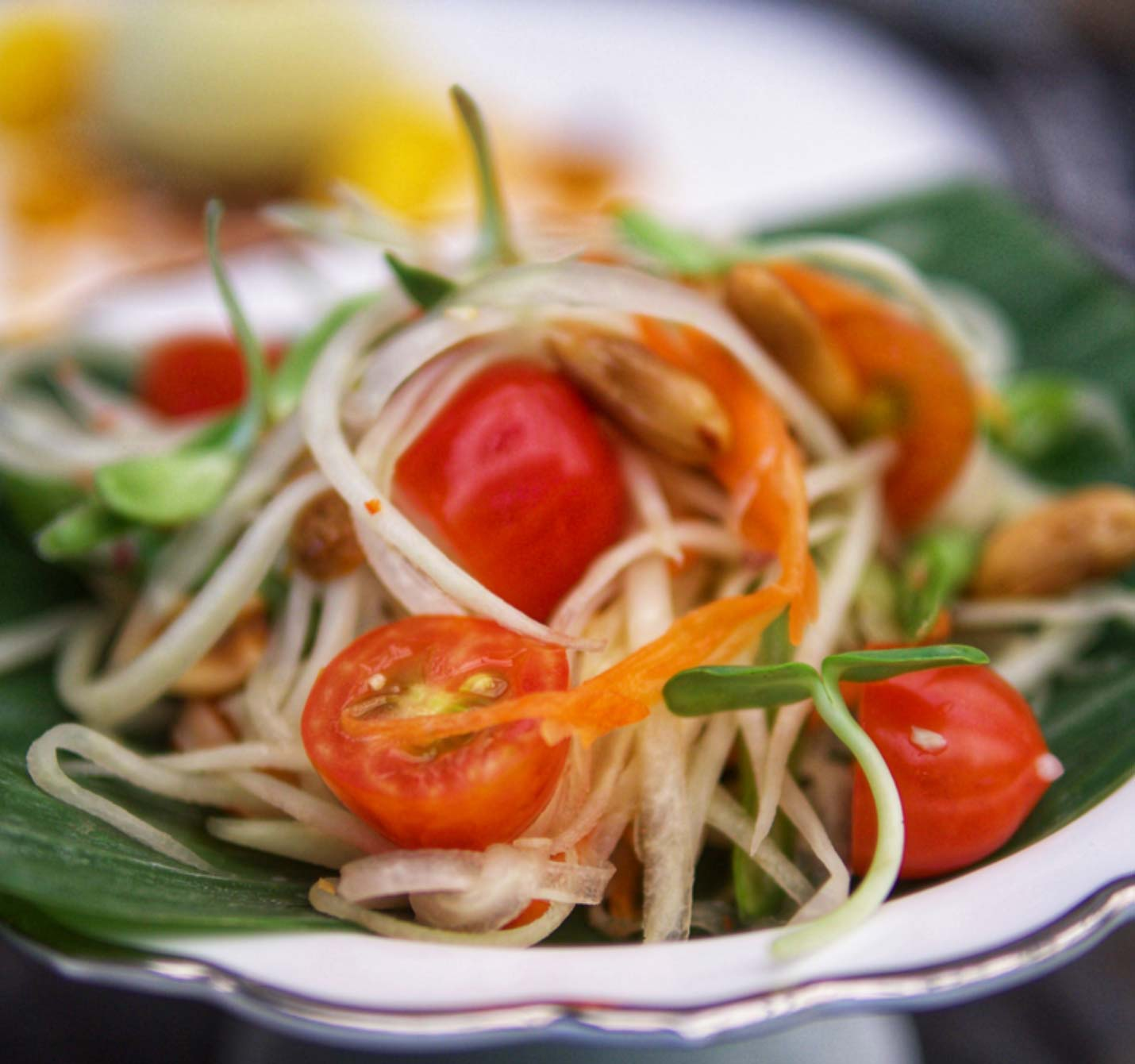 Raw Spicy Thai Green Papaya Salad Recipe By Julie Montagu