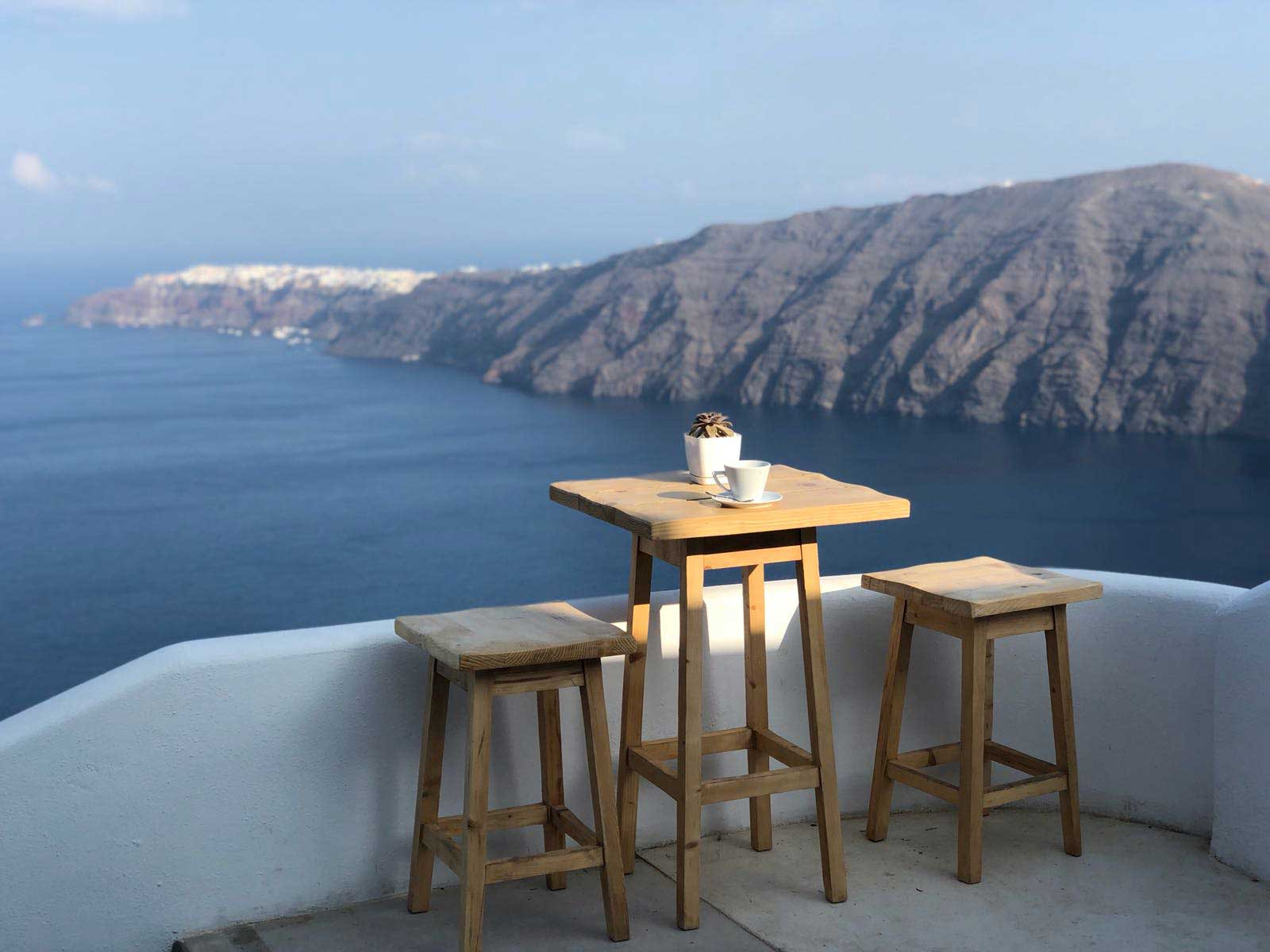 Santorini Whole Self Retreat 2018 - the view from our accommodation