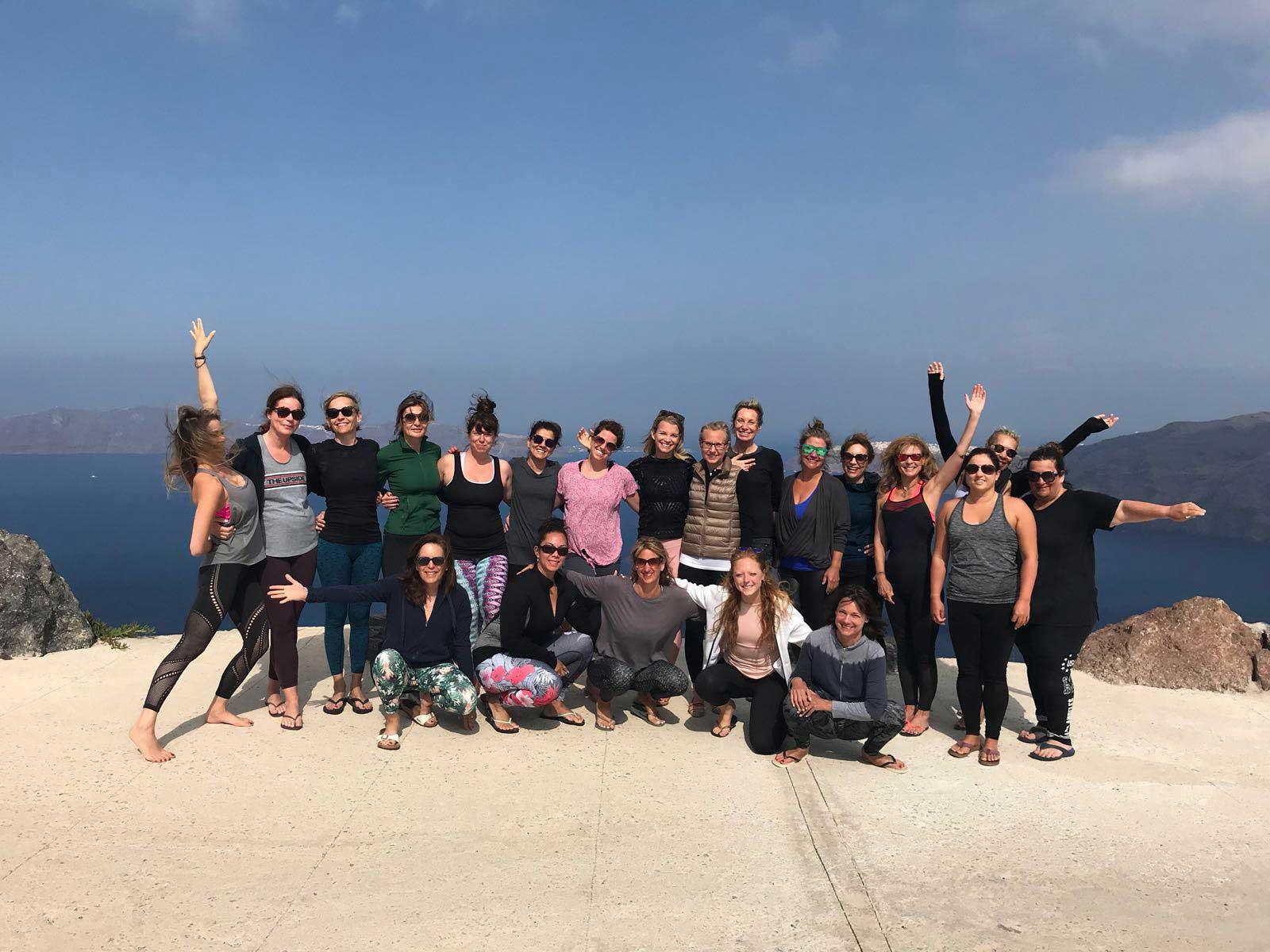 Santorini Whole Self Retreat 2018 - the group