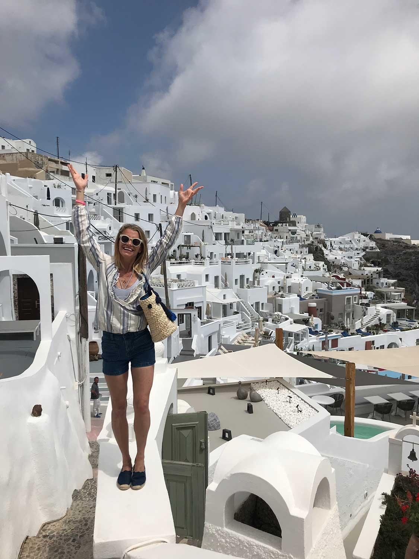 Santorini Whole Self Retreat 2018 - Julie Montagu in Santorini