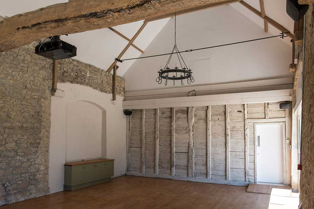 Inside The Coach House - our yoga space