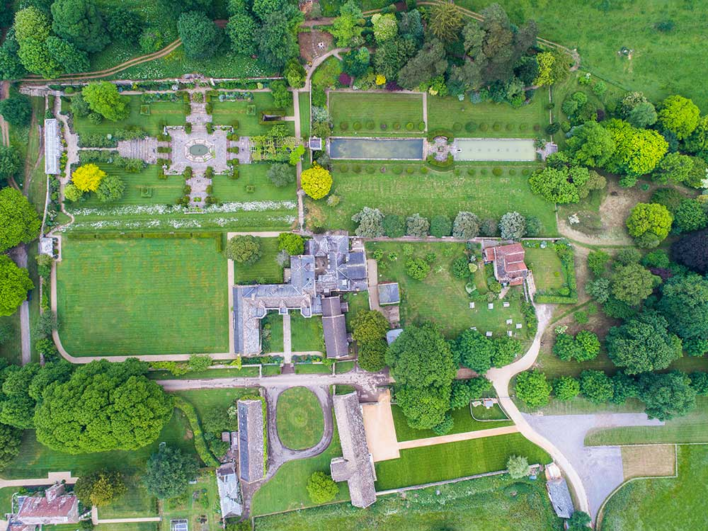 Aerial view of Mapperton