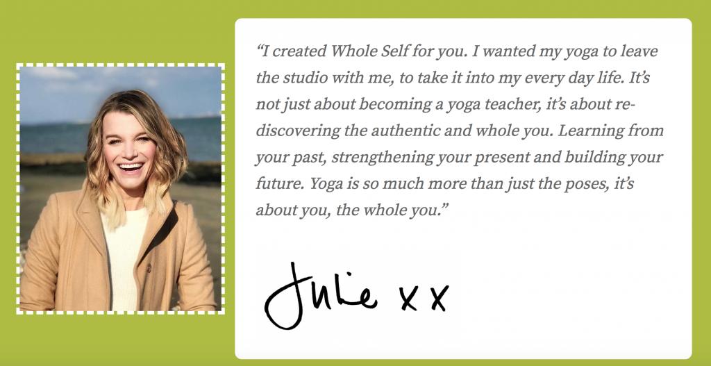 Yoga Teacher Website Julie Montagu