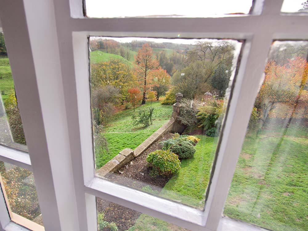View from one of the windows of the Garden Cottage
