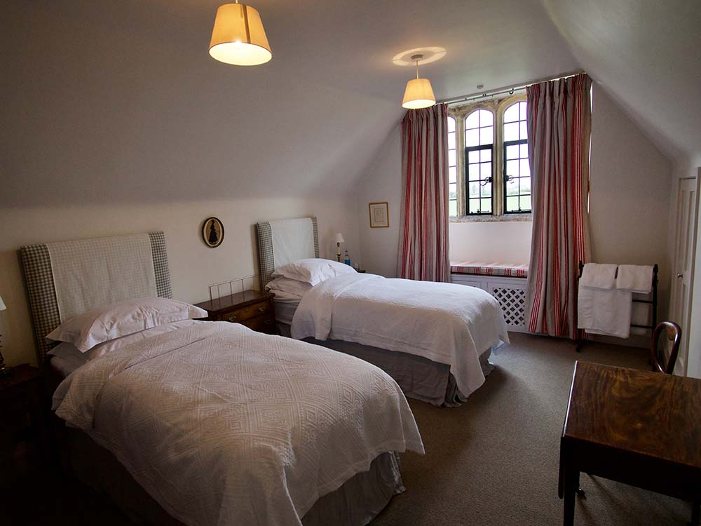 Mapperton House twin bedroom