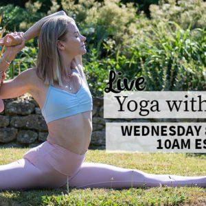 LIVE Yoga With Julie – Wednesday 8th April – 10am EST    3pm London