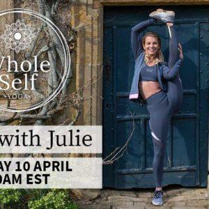 LIVE Yoga With Julie – Friday 10th April – 10am EST    3pm London